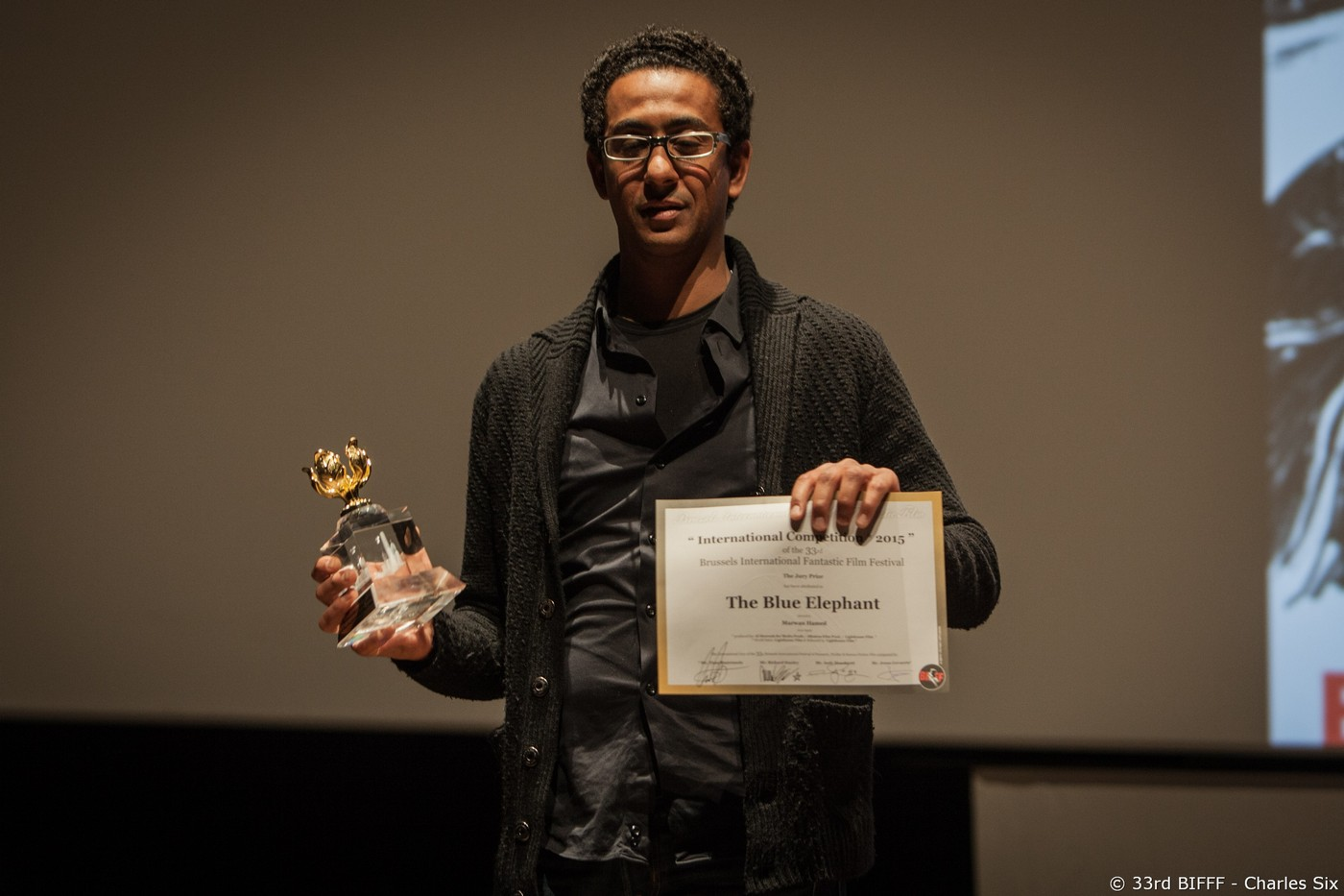 Marwan Hamed Director - The Blue Elephant - Special Prize of the Jury and Special prize offered by the Hong Kong Economic and Trade Office for their 50 years of presence in Brussels